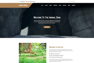 Wild Life One Page HTML Website Template