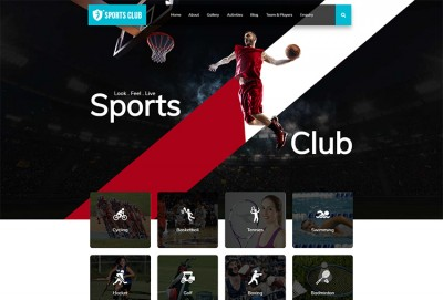 Sports Club HTML Website Template