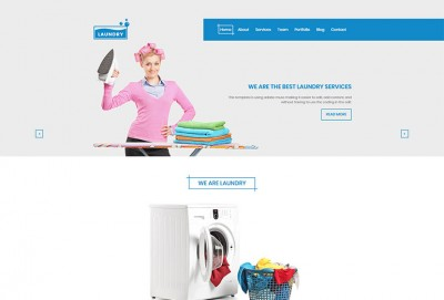 Laundry HTML Website Template