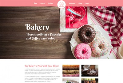 Bakers Shop HTML Website Template
