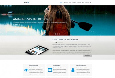 Visual - Business HTML Website Template