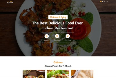 Indian Restaurant Bar And Cafe WordPress Theme