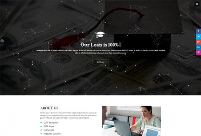 Educational Finance HTML Website Template