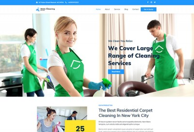 Cleaning And Myriad Services WordPress Theme