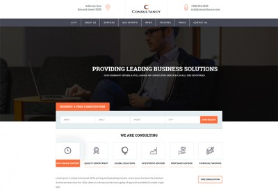Consultancy Services HTML Website Template