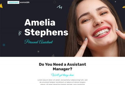 Assistant Manager And Secretary WordPress Theme