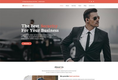 Security Services WordPress Theme