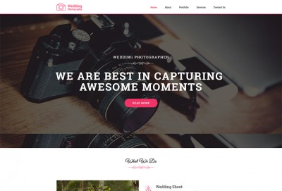 Wedding Photography HTML Website Template