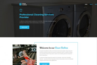 Laundry Service Html Website Template