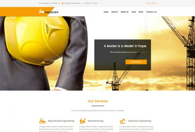 Industrial Business HTML Website Template