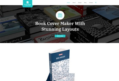 Cover Page Making WordPress Theme