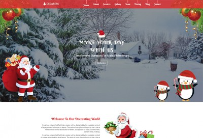 Christmas Decoration HTML Website Template