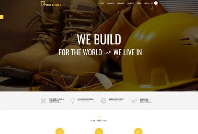 Constructions and Buildings WordPress Theme