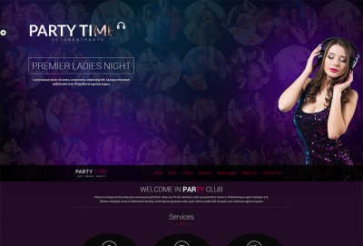 Party Time HTML Website Template