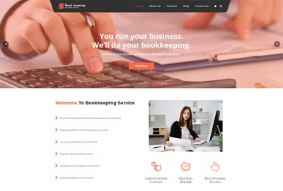Bookkeeping Service And Accounting WordPress Theme
