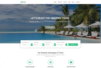Tours and Travel HTML Website Template