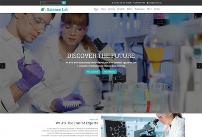 Pathology and Diagnostics HTML Website Template