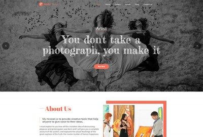 Artistry And Paintings WordPress Theme