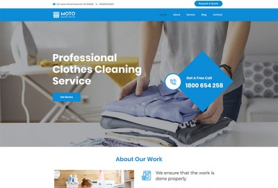 Laundry Service, Dry Cleaning & Cloths Cleaning WordPress Theme