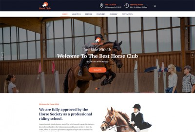 Horse Club HTML Website Template