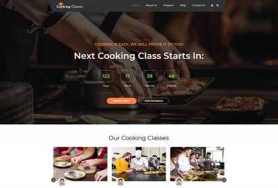 Cooking Classes WordPress Theme