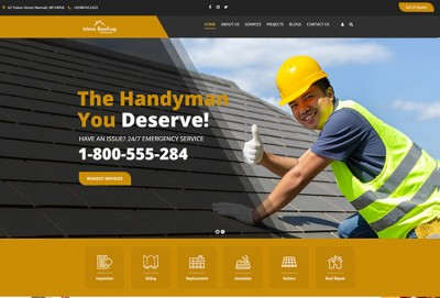 Roofing Contractor WordPress Theme