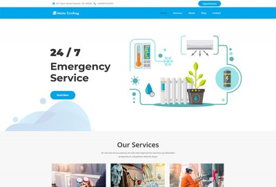 Cooling And Home Appliance Fixing Service WordPress Theme