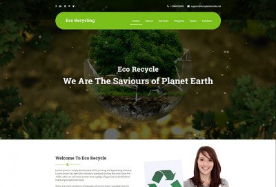 Eco Recycling HTML Website Template