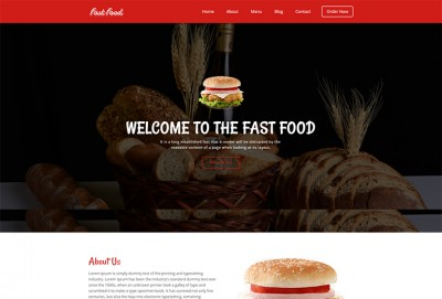 Fast Food HTML Website Template