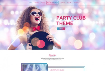 Party Night Club HTML Website Template