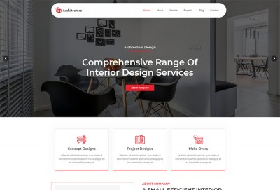 Construction, Architecture, and Interior WordPress Theme