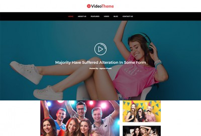 Video Gallery HTML Website Template