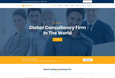 Consultancy Business And Finance Consulting WordPress Theme