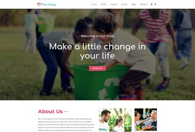 Charitable Trust, NGO And Fundraising WordPress Theme