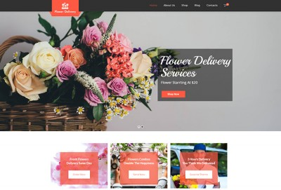 Flower Delivery WordPress Theme