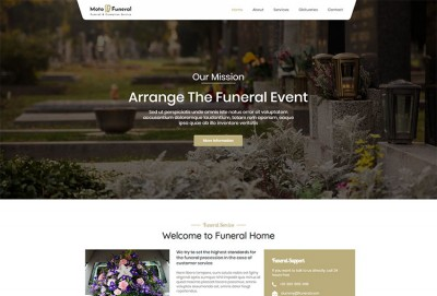 Funeral Services WordPress Theme