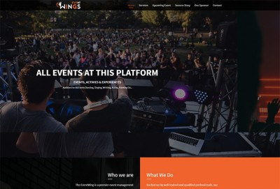 Event Wings HTML Website Template