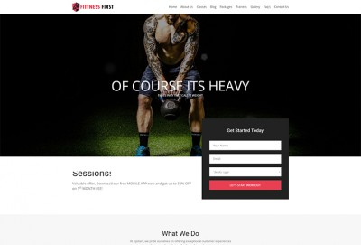 Fitness First HTML Website Template