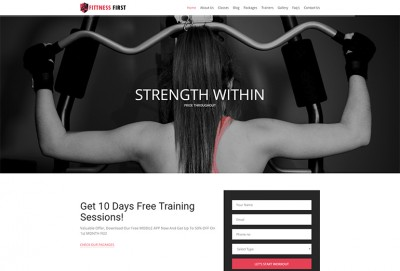 Fitness First Single-Page HTML Website Template