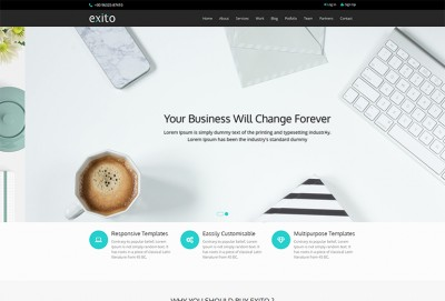 Exito HTML Website Template