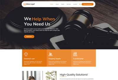 Law, Attorney, Legal Adviser and Legal Services WordPress Theme