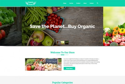 Organic Food Store HTML Website Template