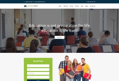 E BUDDY - Online Courses & Educational HTML Website Template