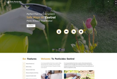 Pesticides Control And Pest Control WordPress Theme