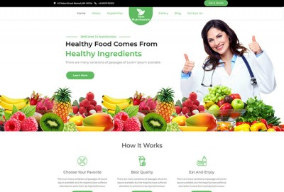 Nutritionists And Vegetarianism WordPress Theme