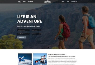 Adventure and Tour HTML Website Template