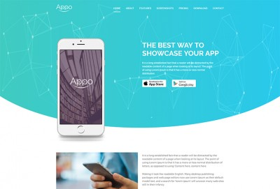 App Landing page HTML Website Template