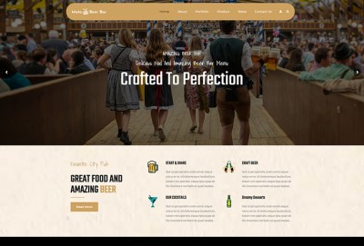 Beer Bar, Pub And Brewery WordPress Theme