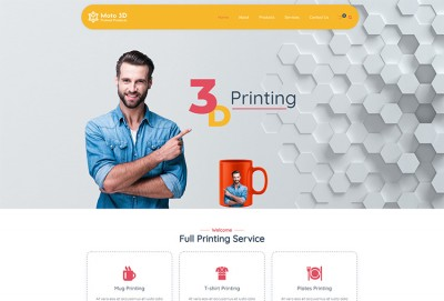 3D Printed Products WordPress Theme