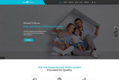 Movers And Packers, Transportation, Relocation WordPress Theme